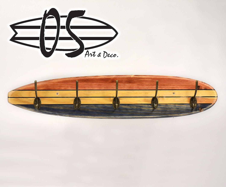 05 Art Deco. Perchero Tabla Longboard Tres Tonos: Amazon.es ...