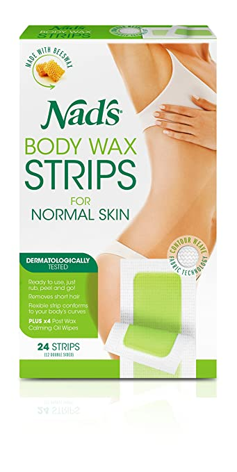 Amazon Com Nad S Hair Removal Strips 24 Strips Pack Of 2