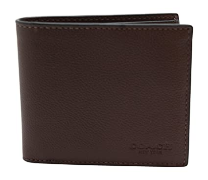 4bfaa344b89c3 Image Unavailable. Image not available for. Color  Coach Mens Double  Billfold Sport Calf Wallet 75084 Mahogany