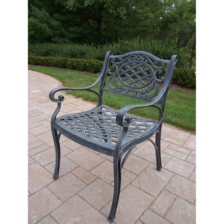 Amazon.com : Oakland Living Mississippi Cast Aluminum Arm Chair, Antique  Bronze : Patio Dining Chairs : Garden U0026 Outdoor