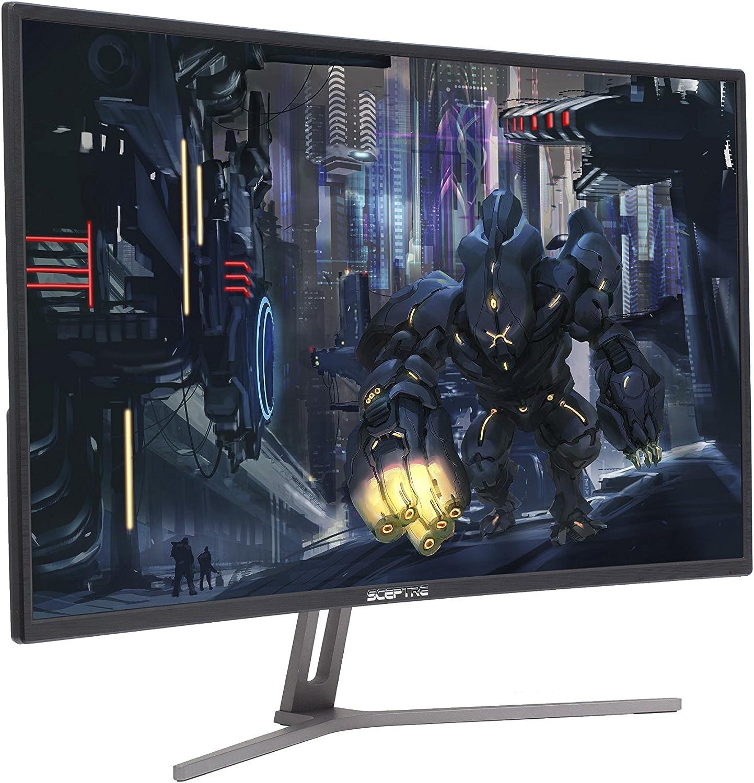 "Sceptre C325B-144R 32"" 144Hz 1800R Curved AMD FreeSync Gaming Monitor 1920x1080 HDMI DisplayPort Metal Black 2018"