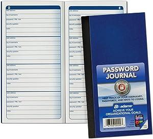 Adams Password Journal, 6.25 x 3.25 Inches (APJ99), Blue