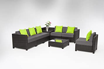 Amazoncom MCombo 8 Piece Luxury Black Wicker Patio Sectional