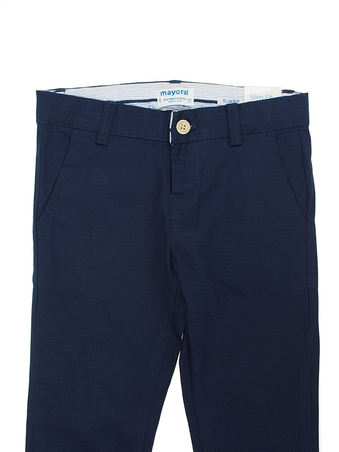 Stretchy Chino Pants for Boys 3526 Mayoral Blue