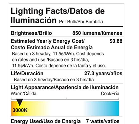 Goodlite G-83468 G25 LED Light Bulb, 7W=60-Watt Equivalent 850 Lumens Clear Warm White 3000k E26 Base Dimmable, - - Amazon.com