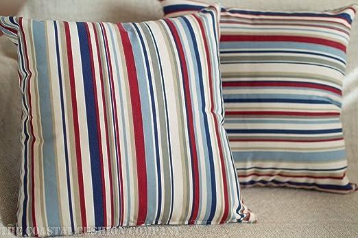 The Coastal Cushion Company Funda de cojín con rayas ...