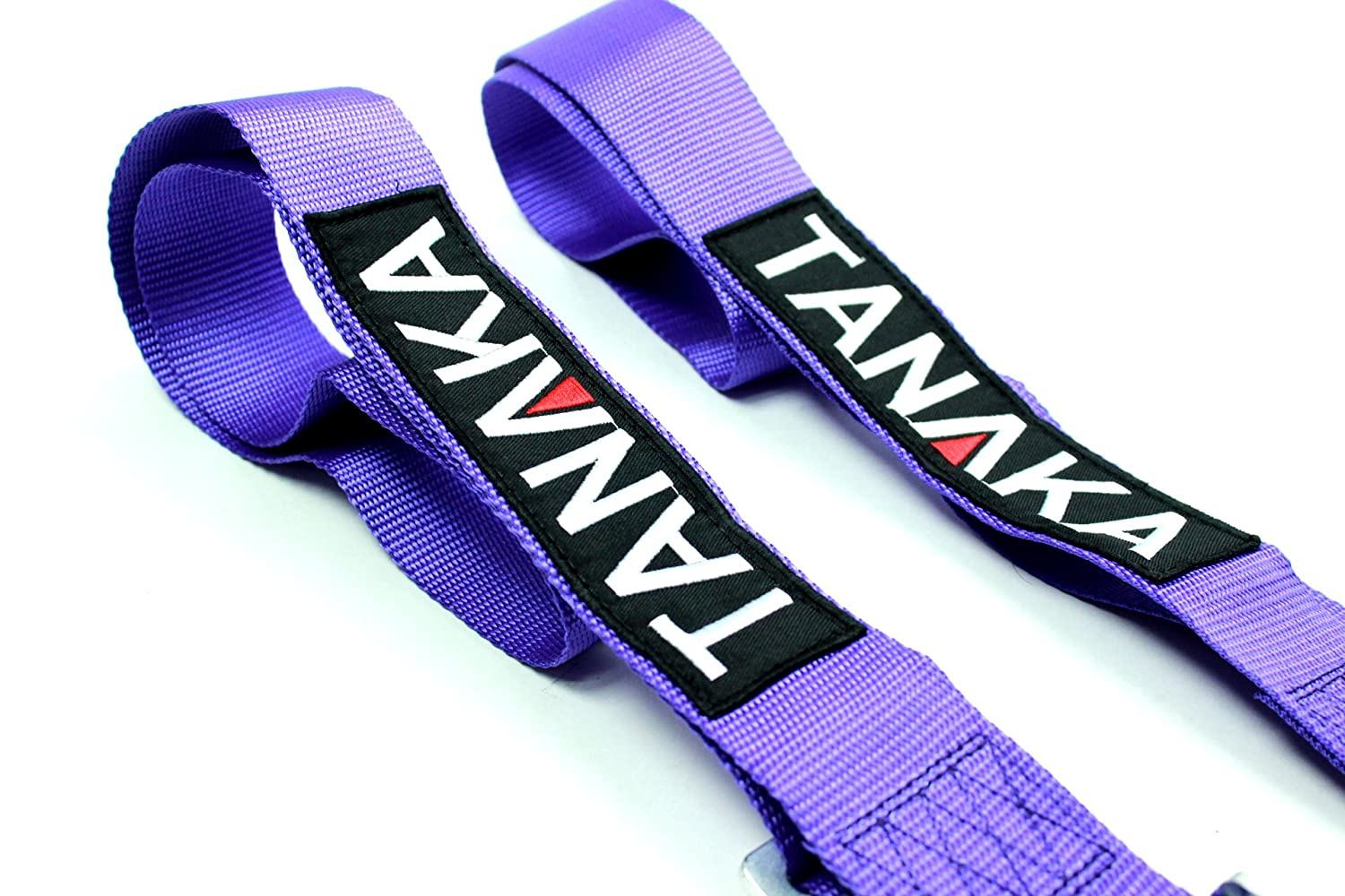 Tanaka Racing Style 4 point Harness For Powersports Purple PAIR