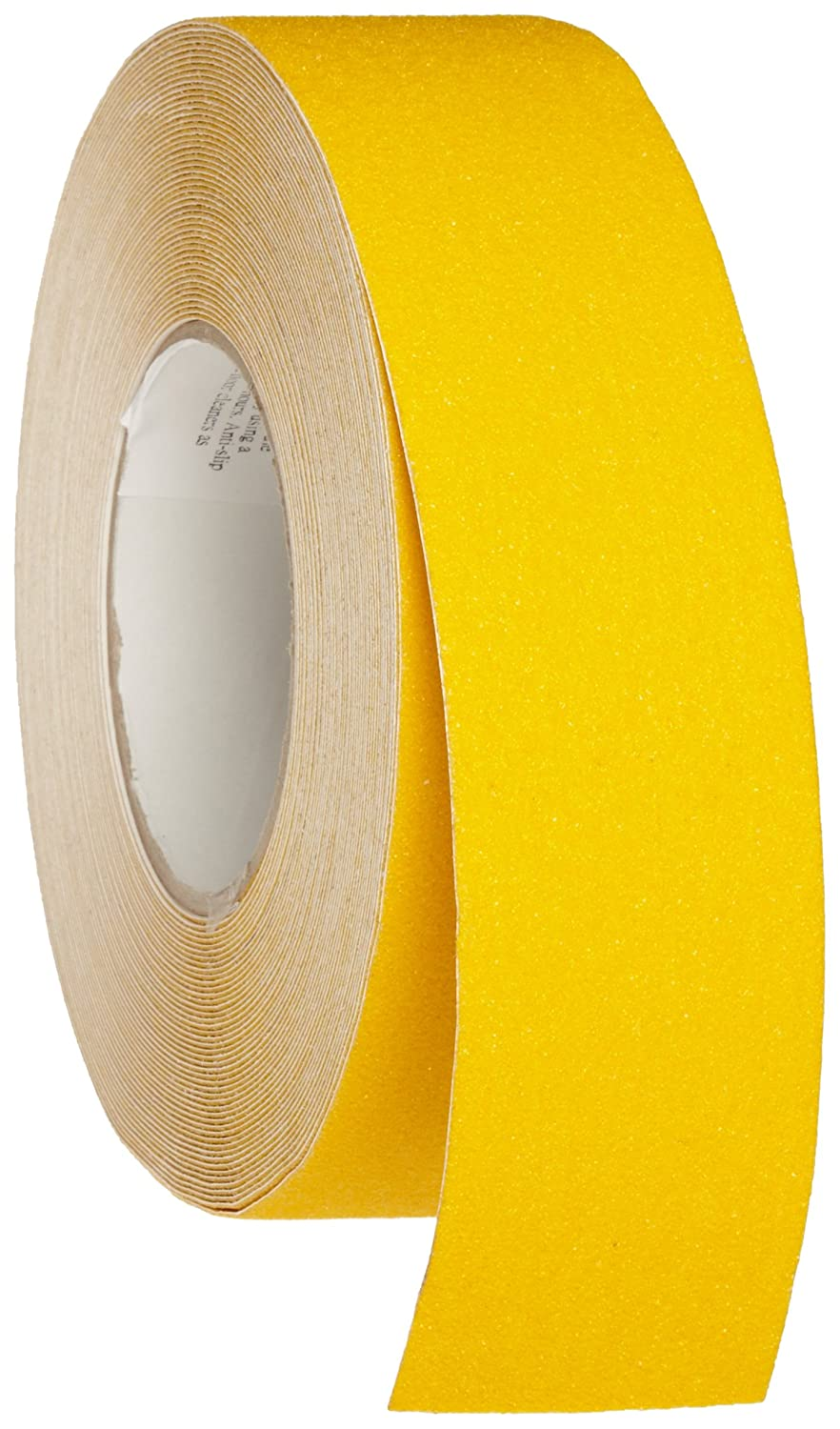 Brady 60' Length, 2' Width, B-916 Grit-Coated Polyester Tape, Safety Yellow Color Anti-Skid Tape Roll Mounted 2 Width 78091