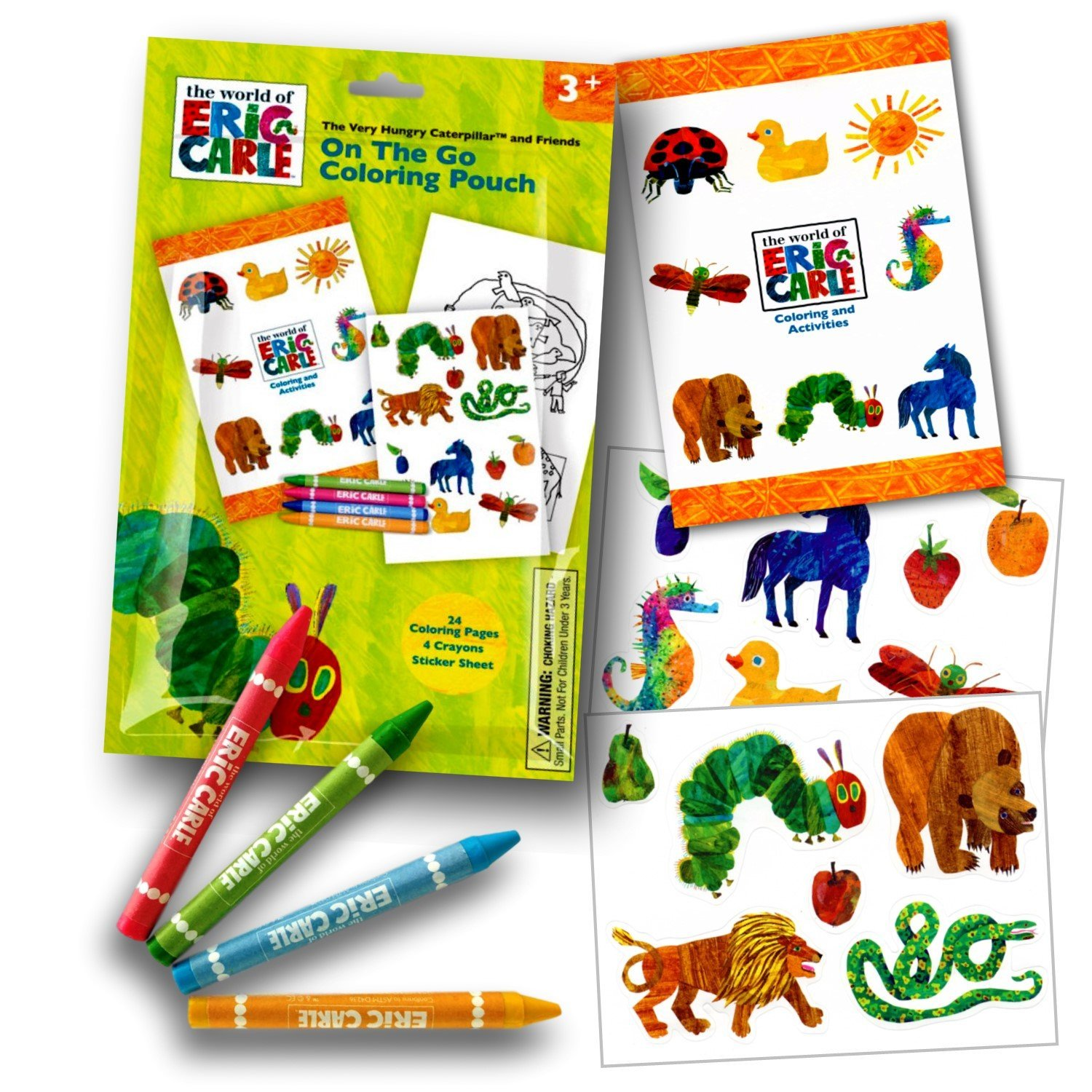 amazon com world of eric carle coloring activity set with crayons