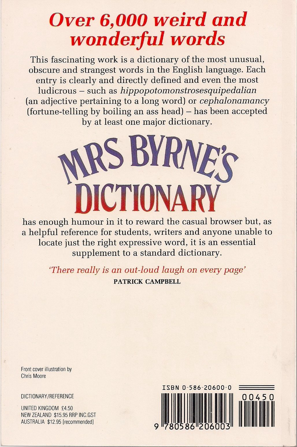 Mrs. Byrne's Dictionary of Unusual, Obscure and Preposterous Words:  Amazon.co.uk: Josefa Heifetz Byrne: 9780586206003: Books