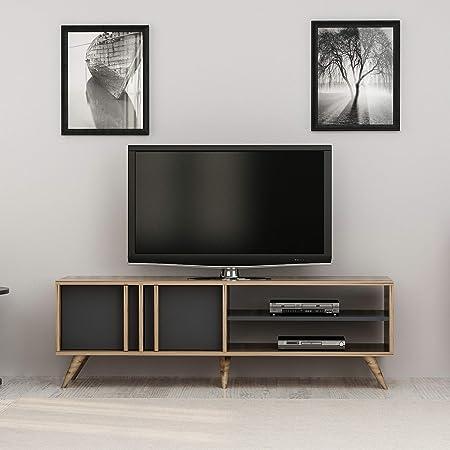 Homemania - Mueble para TV Rilla, Madera, Nogal-Antracita, 150 x 35 x 48 cm: Amazon.es: Juguetes y juegos