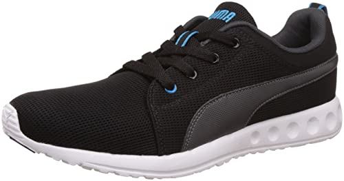 fd59ee55221a4b Puma Men s Carson Runner DP Black Asphalt and Atomic Blue Running Shoes -  10 UK
