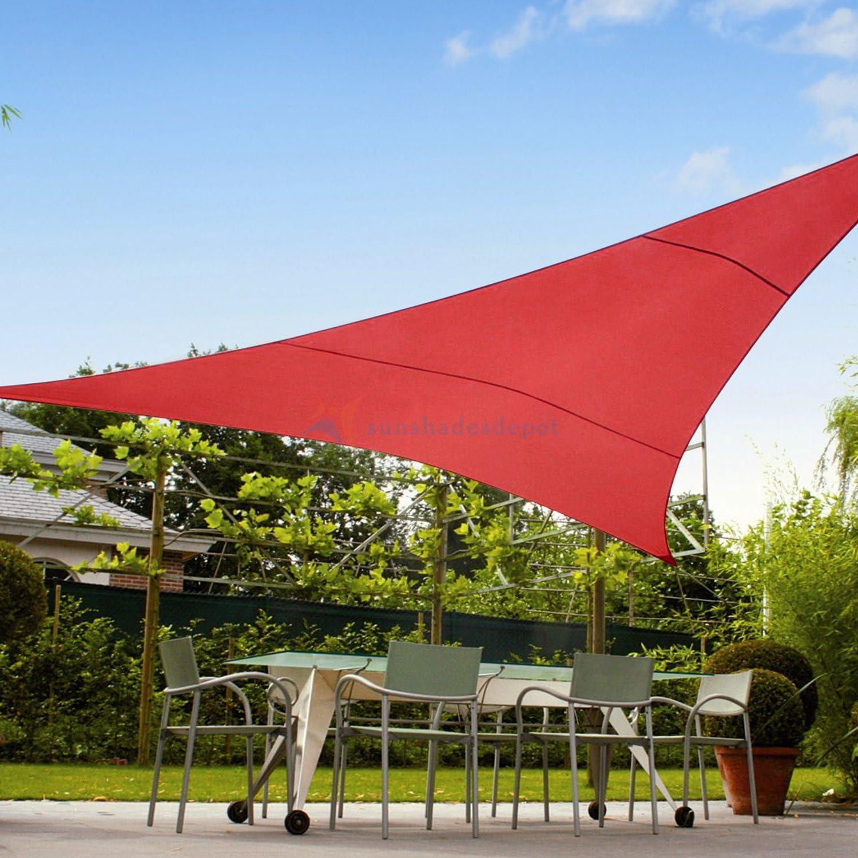 Sombrillas Depot 180 g/m² Derecho triángulo Impermeable Tejida ...