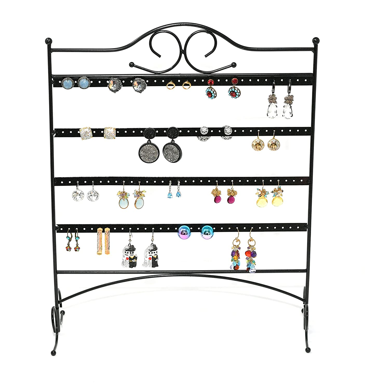 ARAD Metal Jewelry Tree, Holder Organizer-Hanging Jewelry Display for Earrings & Other Piercings