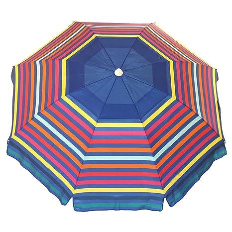 Amazon.com: Nautica - Paraguas de playa con ancla y bolsa de ...