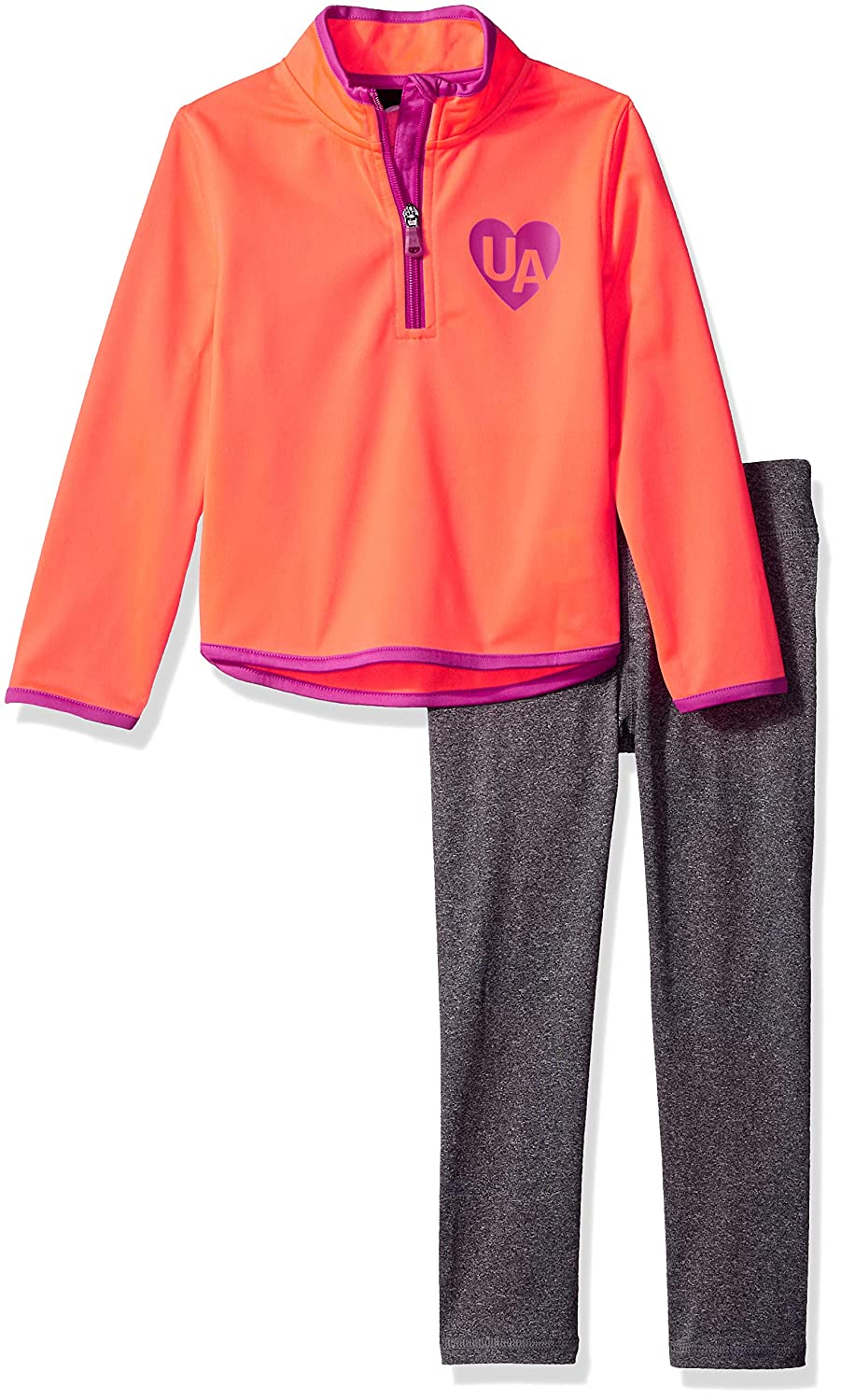 Under Armour Girls' Little Track Jacket and Pant Set
