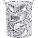 HIYAGON Large Laundry Hamper,Waterproof Laundry Baskets,Collapsible Canvas Basket for Kids Room,Toy Organizer,Home Decor,Nurs