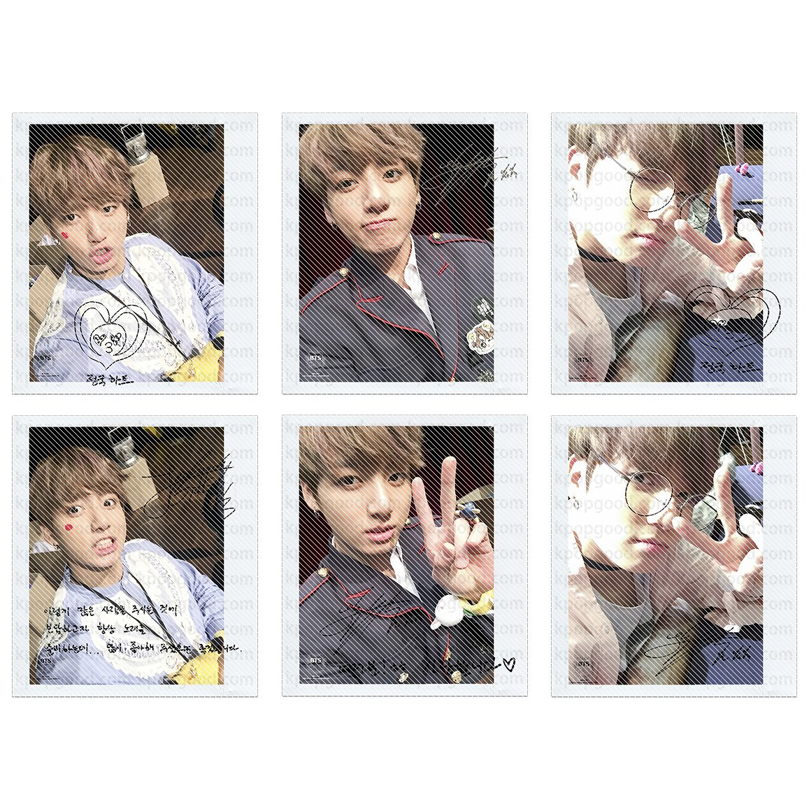 BTS bangtan boys you never walk alone jungkook selfie wide polaroid photo set
