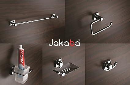 jakaba rebko premium quality 5 pieces fully brass bathroom accessories set towel rod - Bathroom Accessories