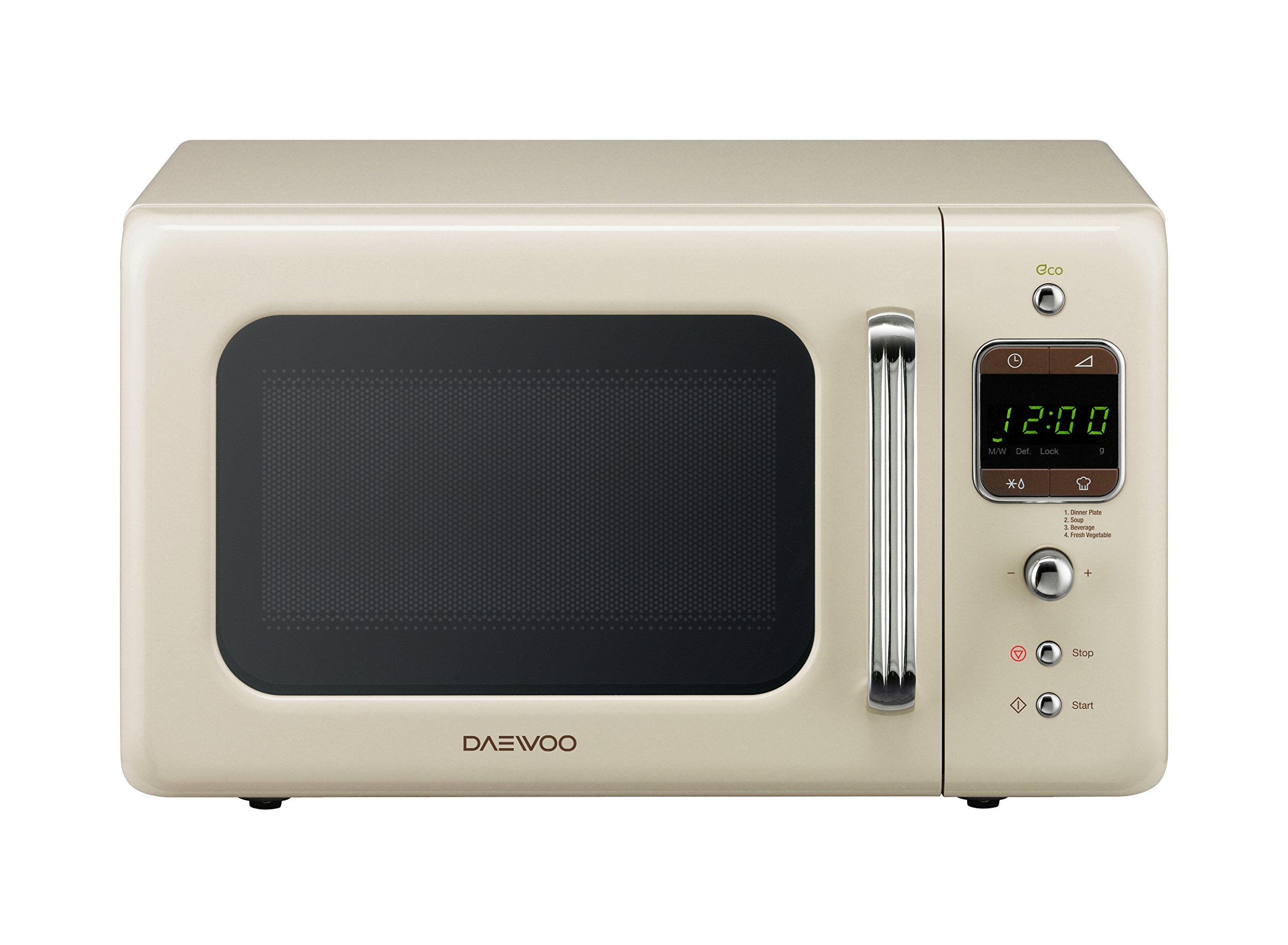 Daewoo Kor7lbkc Retro Style Microwave Oven 20 L 800 W