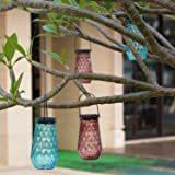Solar Mason Jar Outdoor Decorative Glass- BroGarden