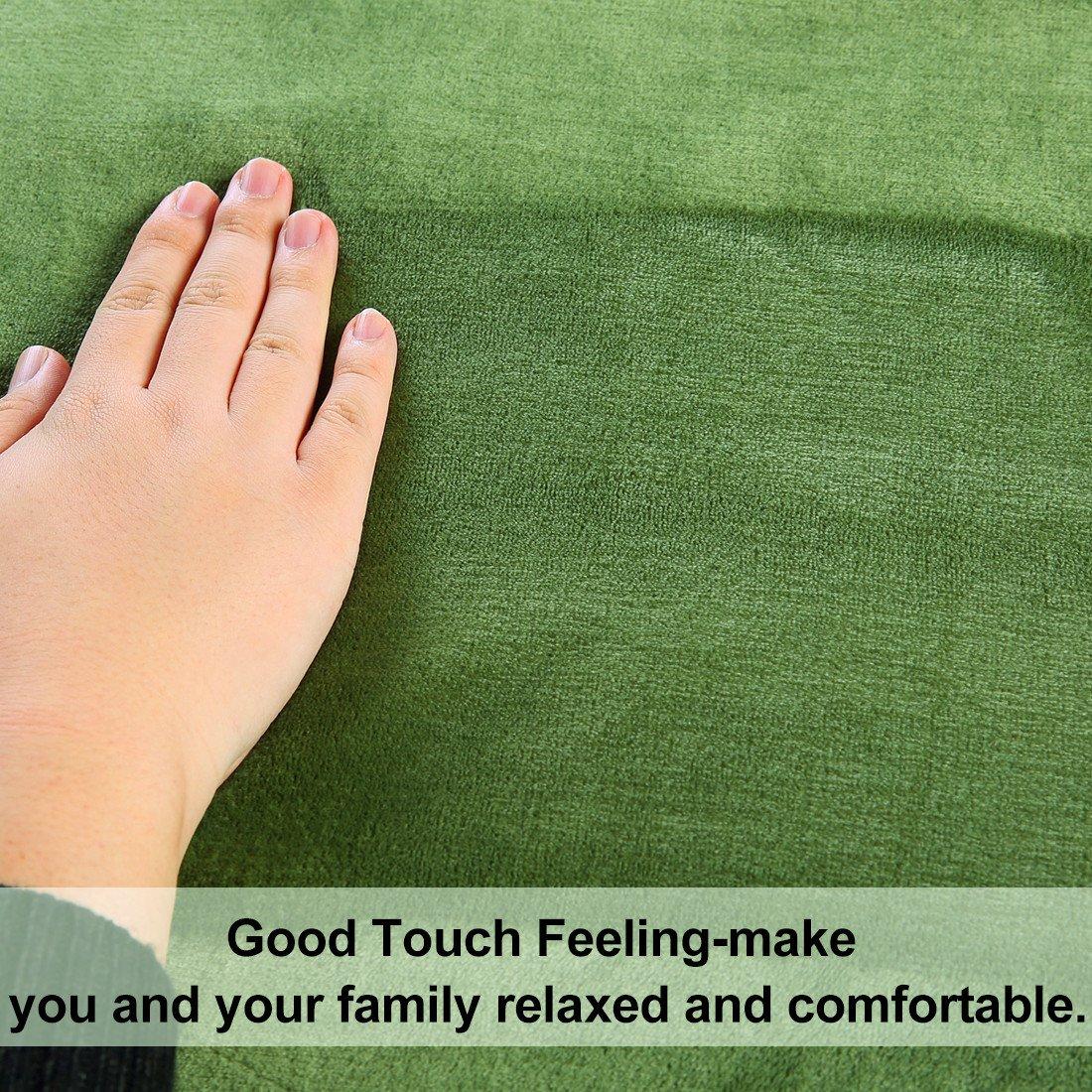 MEROUS Soft Twin Fleece Bed Blanket, Grass Green