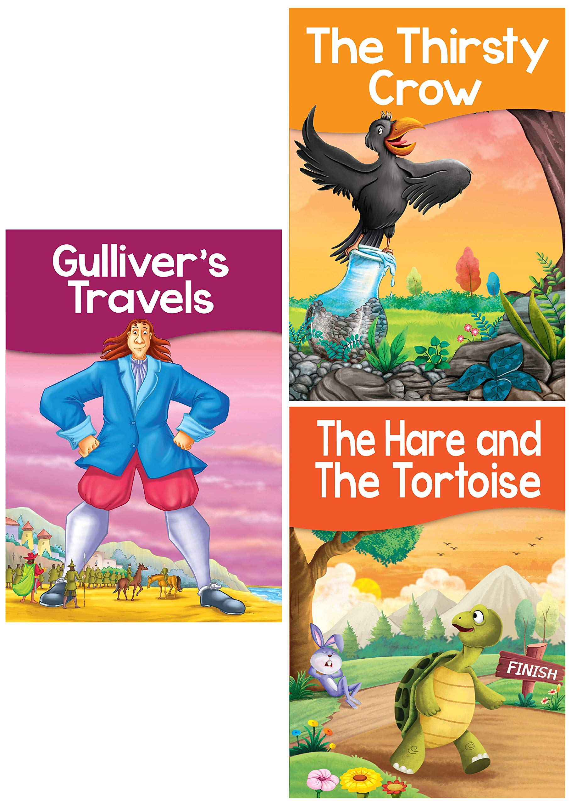 Buy Set Of 3 Picture Story Books The Hare The Tortoise The