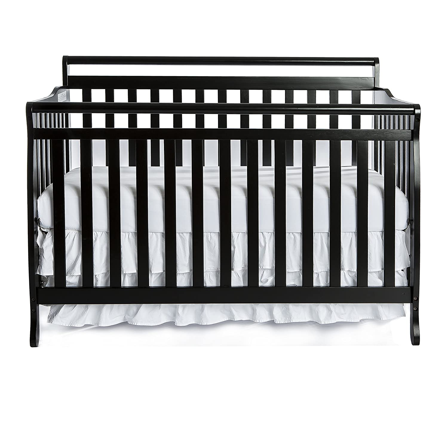 Dream On Me Liberty 5-in-1 Convertible Crib, Black