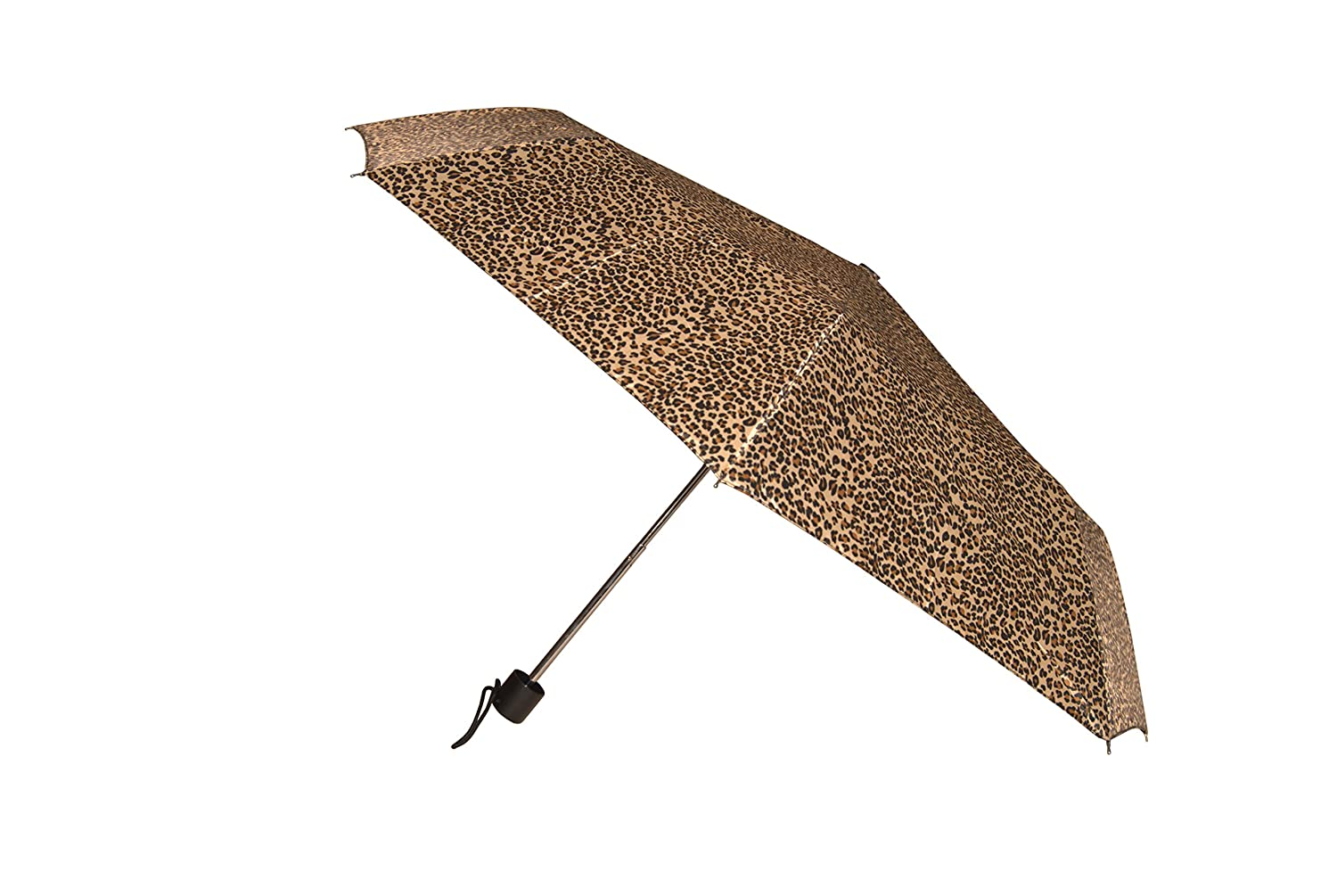 Amazon.com | Raines Automatic Folding Umbrella with 42-inch Wide Canopy and Attached Carrying Loop, Leopard, 3-pack | Umbrellas