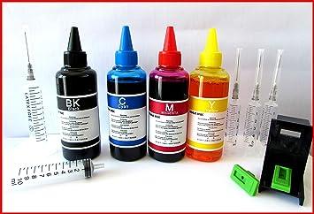 Tinta Compatible para Carga Cartuchos de Impresoras HP 15 45 40 ...