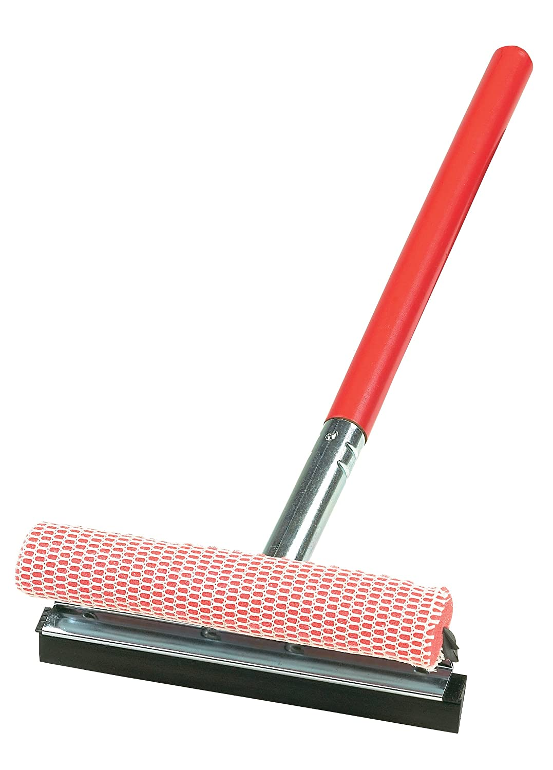 Carrand 9010R Red 8' Metal Squeegee Head with 20' Wood Handle