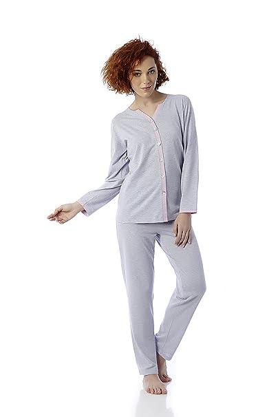 Pijama Invierno. Mabel Intima (Tallas de la 3 a la 8). Estampado de rayas malvas y rosas.. B077SGNQFQ: Amazon.es: Ropa y accesorios
