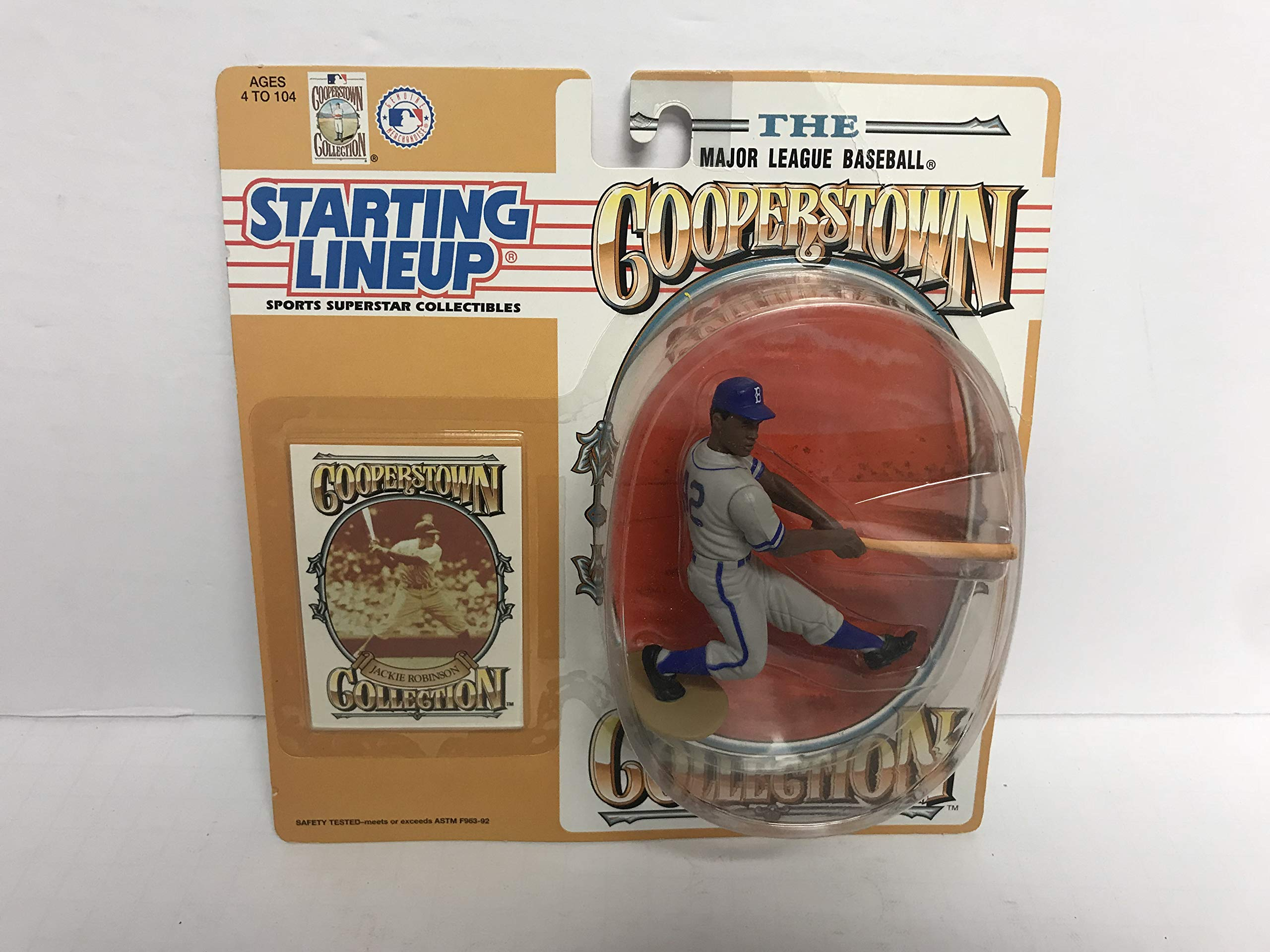 Jackie Robinson Brooklyn Dodgers Collectible Toy Action Figure with Trading Card