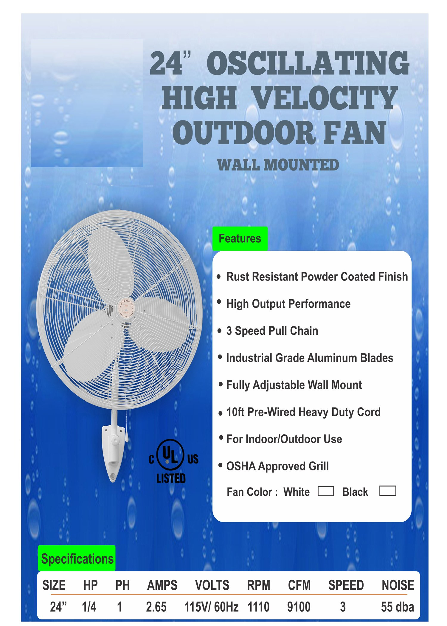 Double Fan Portable Misting System (Mid Pressure w/ 160 Psi Pump 6 Nozzles)