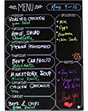 "Iebbie-Black Dry Erase Durable Magnetic Menu Board For Refrigerator-3MM Thick Premium Vinyl- Daily/Weekly Meal Planner- 12""X16"" (Inches) Large Memo Board- For Home Kitchen Organization & Restaurants"