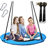 WV WONDER VIEW Tree Swing, Outdoor Swing with Hanging Strap Kit, 40 Inch Diameter 600lb Weight Capacity, Great for Playground