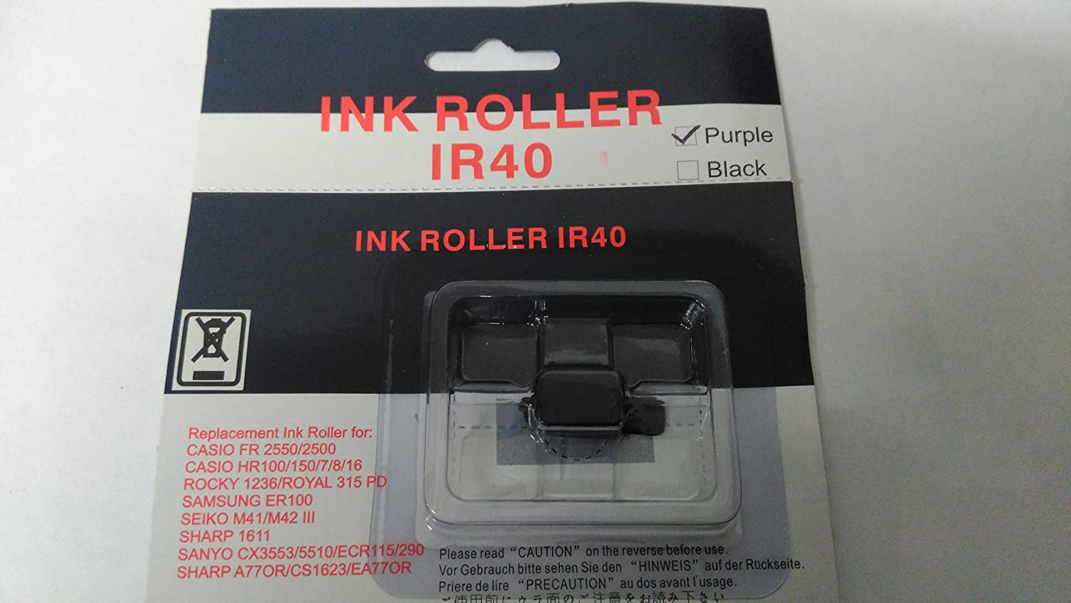 10 Pack Replacement IR40 Purple Ink Rollers for Cash Registers and Tills The Monitor Shop