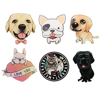 803b03184 Amazon.com: Kambear Cute Cartoon Brooch Pins Set Dog Breastpin Jewelry For  Women: Jewelry