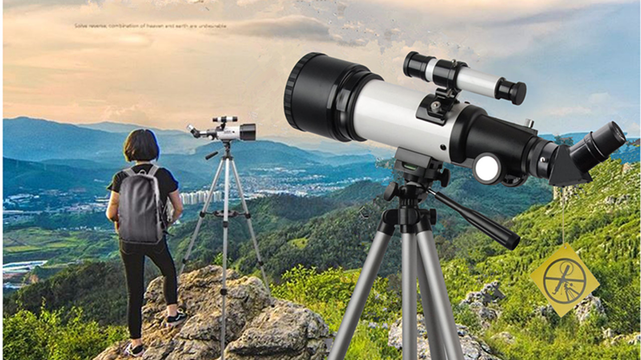 Telescope for Kids 70mm Apeture Travel Scope 400mm AZ Mount - Good Partner to View Moon and Planet - Good Travel Telescope with Backpack for Kids and Beginners