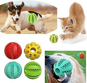 Gaorui Rubber Ball Pet Dog Cat Chew Treat Quack Food Dispenser Holder Training Dental