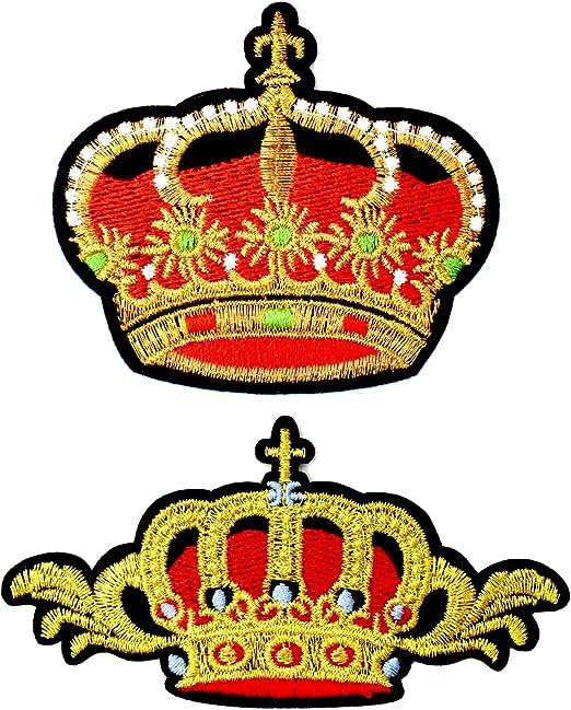 LilieCrea - Parches Bordados con Coronas Reales, Parches Bordados, Escudos de la realeza: Amazon.es: Hogar