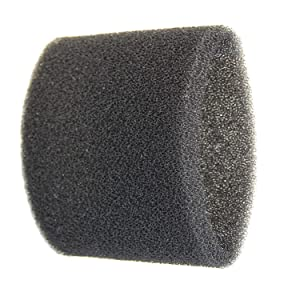 HQRP Foam Filter Sleeve Compatible with Shop-Vac 2010, 2010A, 2015, 2015A, 2E150, 2E200, 3150, 3200, 3225, 3332, 3332.5A, 3332.5B, 3333.5, 3333.OH, 3334 Wet Dry Vacuums + Coaster