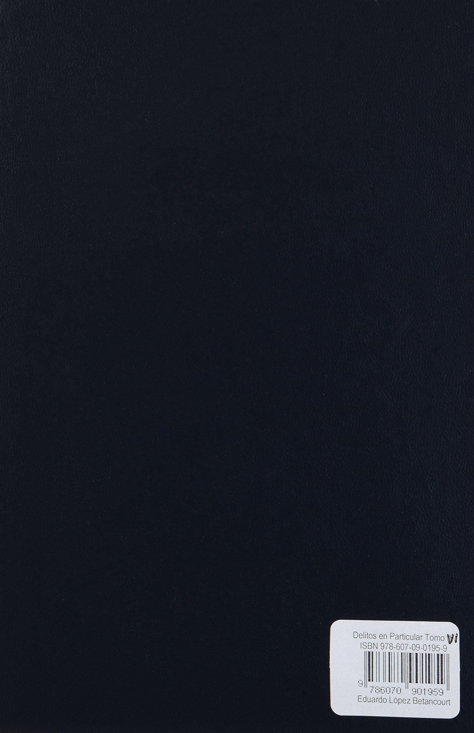 Delitos en particular 6 portada puede variar eduardo lopez delitos en particular 6 portada puede variar eduardo lopez betancourt editorial porra sa de cv amazon libros fandeluxe Image collections