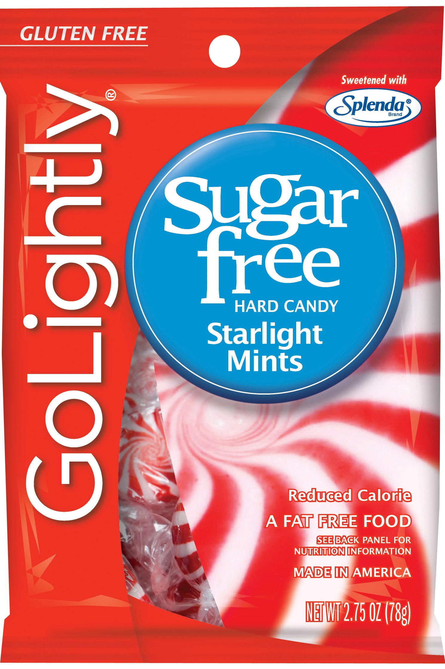 Go Lightly Starlight Mints Sugar Free Hard Candy, 2.75 Ounce (Pack of 12)