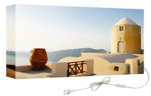 Decoralive Saxo Abstracto - Cuadro retroiluminado, 50 x 50 x 5 cm: Amazon.es: Hogar