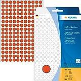 Herma 2212 - Paquete de 5632 pegatinas adhesivas redondas (8 mm), color rojo mate