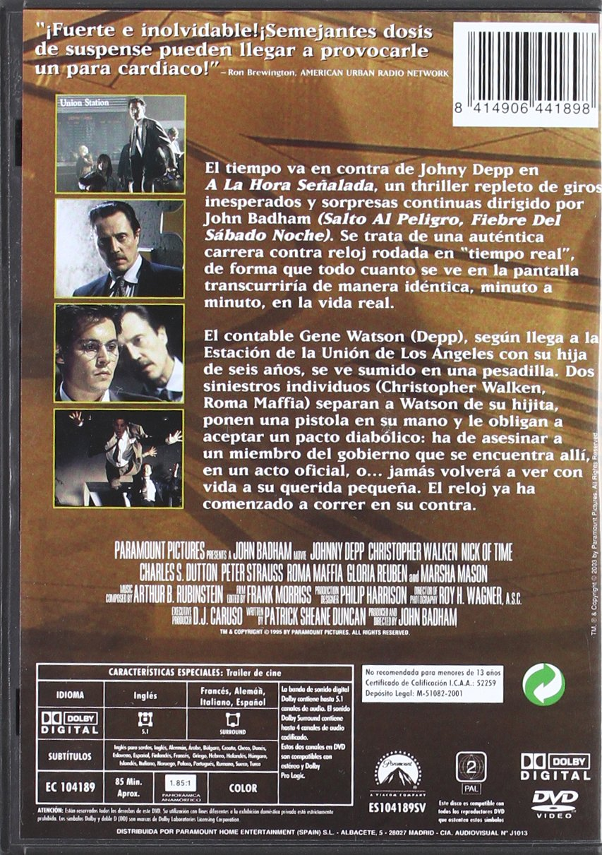 Amazon.com: A La Hora Señalada (Import Movie) (European Format - Zone 2) (2002) Johnny Depp; Christopher Walken; Charle: Movies & TV