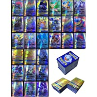 Poke starter collection 200Pcs Poke Cards TCG Style Card include 195 GX Cards 5 MEGA Cards look same as