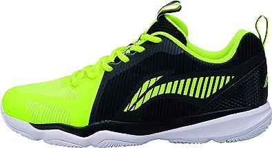 Li Ning AYTN053-2 Ranger TD - Zapatillas de bádminton para Hombre, Color Negro y Amarillo: Amazon.es: Zapatos y complementos