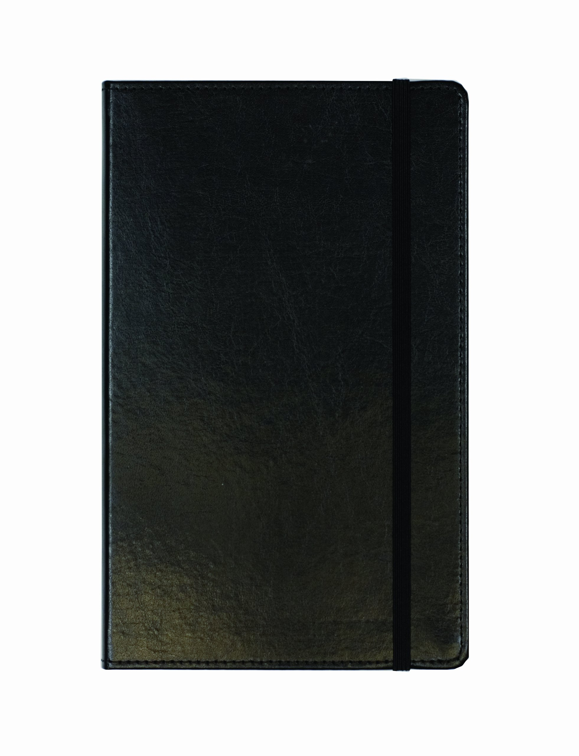 Markings by C.R. Gibson MJ5-4791 Genuine Bonded Leather Journal, By Markings, Smyth Sewn Binding, Ribbon Marker, Elastic Band Closure, Includes 240 Ruled Pages, Measures 5'' x 8.2'' - Large Black
